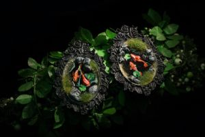 Fish Pond Brooches by ChocolateDecadence