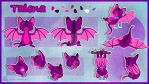Talena the cute bat reference sheet by AltairSky