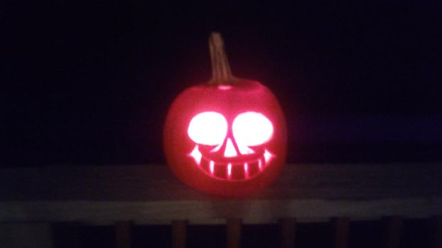 Sans Pumpkin Carving by Addicted2Electronics