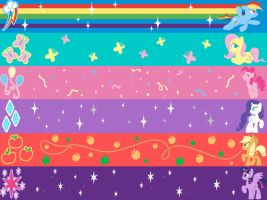 Commission-MLP Scarves by LostInTheTrees