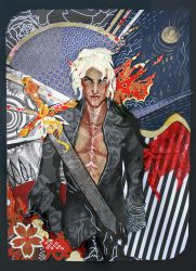 Fenris Tarot card by sassynails