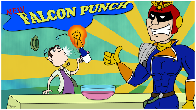 Falcon Punch by pumkincheesemullet