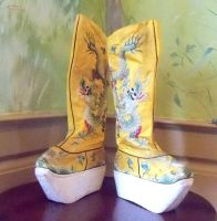 Vintage Chinese Opera Dragon Boots by teonova