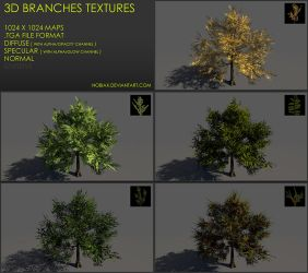 Free 3D branches textures 03 by Yughues