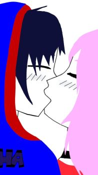 My First Kiss .:Paint:. by XJane-ChanX