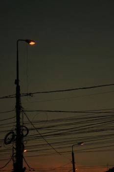 two lights fall for each other by LarmeEterne