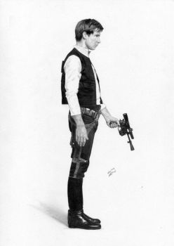 Han Solo Star Wars Harrison Ford by TimGrayson