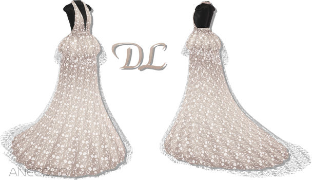 .:: MMD - Peplum Gown DOWNLOAD ::. by AneCoco