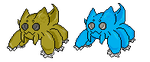 Fakemon: Webtile sprite by CrimsonVampiress