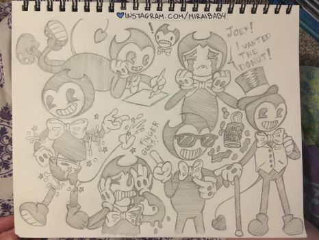 Bendy Sketch Page by miraibaby