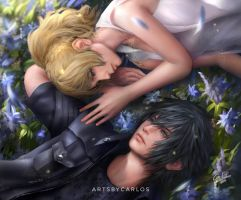 Luna and Noctis by artsbycarlos