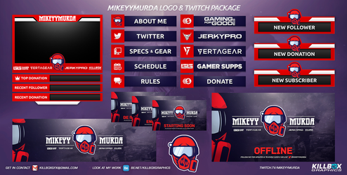 MikeyyMurda Twitch Package by KillboxGraphics