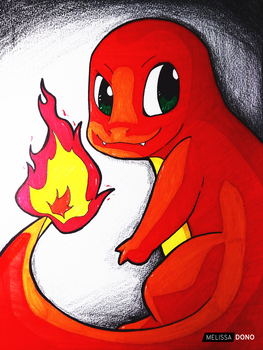 Charmander [color] by melissa-dono