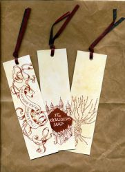 Marauder's Map bookmarks by Feliks-Grell