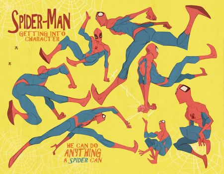 Spider-man poses: 2 of 3 pages by cheeks-74