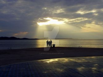 : Sunset Silhouettes - Zadar : by SoundOfVision