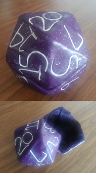 Purple Large D20 Dice Holder by icia