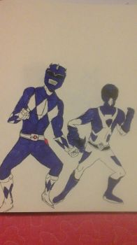 Blue Rangers (1969 and Unofficial) by AvengerOfIron3401