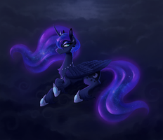 Luna on a cloud by Miss-Cats