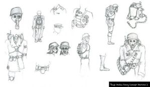 Enemy NPC concept Sketches 1 by thadeemon