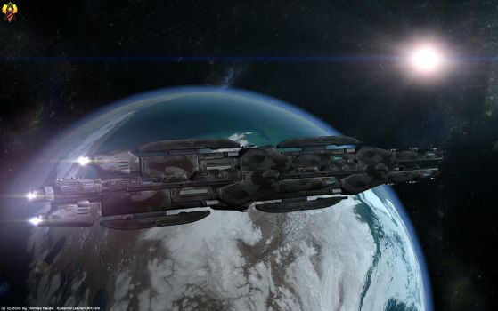Hegemony Dreadnought by Euderion