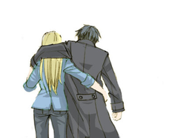 Roy Mustang and Riza Hawkeye. by FMALOVER56