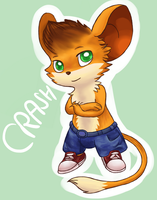 Crash as a mouse by Mogueta