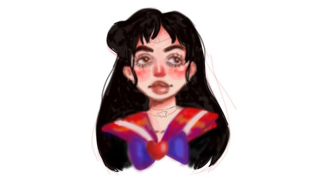 Sailor Mars WIP sticker by superdoodler26