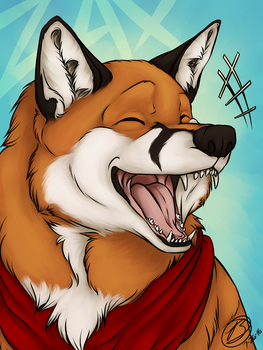 [ commission ] Laughing Zax Badge by simplytresca