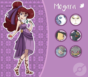 Disney Pokemon trainer : Megara by Pavlover