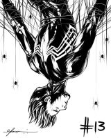 Day 13: Black Peter Parker by cynthiafranca