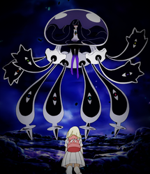 Nihilego and Lusamine fused by Pokemonsketchartist