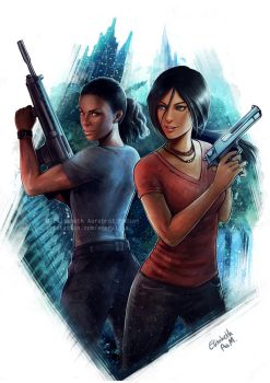 Uncharted - Chloe and Nadine by Emeraldus