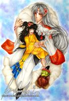 :.Sesshomaru, Rin and Jaken.: by HokoriCupcake