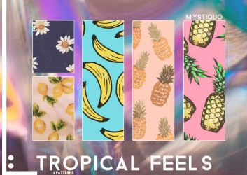 Tropical feels patterns. by Mystiquo