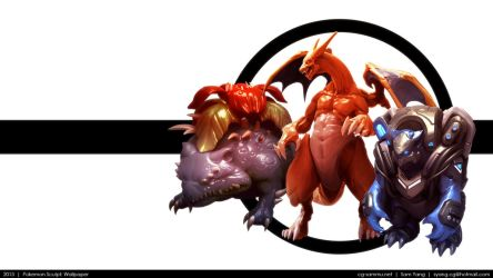 Pokemon Sculpt: Wallpaper 2013 by cg-sammu