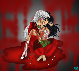 Inuyasha and Kagome Hold me by IcyRoads