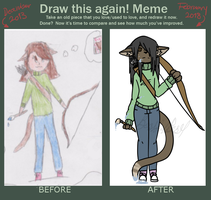 5 Years Of Progress - Before and After Meme by BashfulBasil