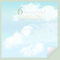 6 beautiful cloudy pngs by celestesd