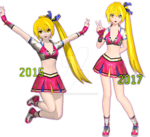 .: Cheer Neru Update 2017 Comparation :. by PiettraMarinetta