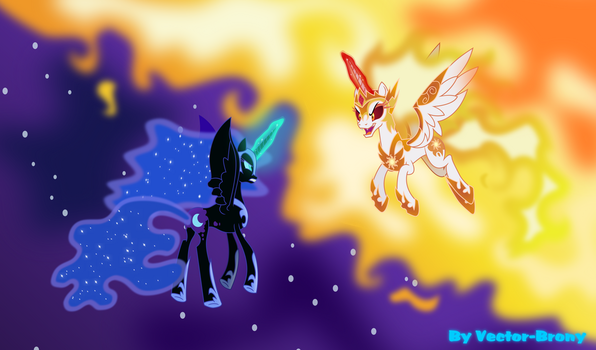 Daybreaker vs Nightmare moon by Vector-Brony