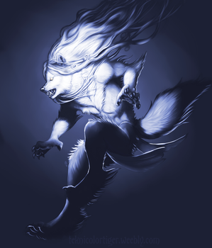 Shaded Sketch: Wolfiestyle by TeknicolorTiger