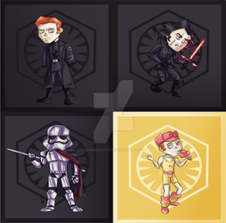 First Order Babes as Chibis by SquirrelKitty76