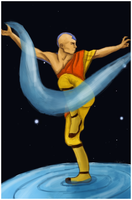 Aang Waterbending by VIKOBELO
