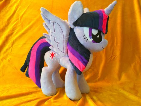 FOR SALE: Large Twilight Sparkle Plush by PantherPawCreations