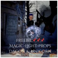 Magic-Light-Props-Dragon and Unicorn by Mysticartdesign