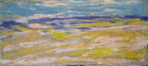 Beach On Recycled Paper by juliarita