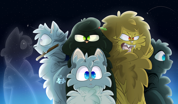 Warrior Cats: The Three and Company by Theoodle
