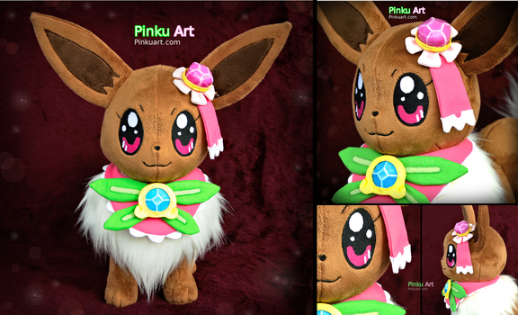 Serena's Eevee: Lifesize plush + accessories by PinkuArt