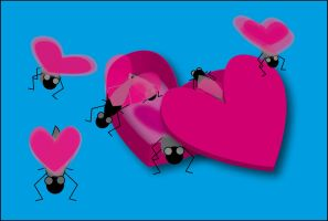 love bugs - spreading the love by Aellien